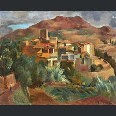 Willy EISENSCHITZ (1889-1974) Village à la tour (le Revest), circa 1928 Huile sur toile signée en bas à droite 60 x 73.5 cm