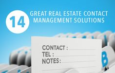 See the top 14 contact management software tools for real estate agents to easily manage and follow up with leads.	 http://plcstr.com/1APZwQh #realestate