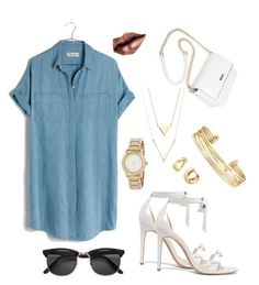 """Untitled #20"" by katiepandowss on Polyvore featuring Madewell, Alexandre Birman, Stella & Dot, BERRICLE, DKNY, H&M and shirtdress"