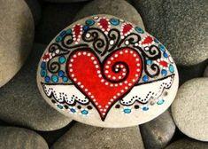 Valentine Painted Rocks 4