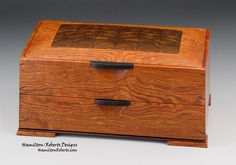 Ziricote in Chechen Large Double Decker Box: Hamilton/Roberts Designs Woodworking