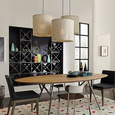 lineage dining table in up to 20% off select dining | CB2
