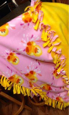 No sew Blanket DIY Baby blanket
