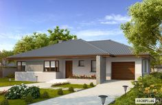 House Layout Plans, Dream House Plans, House Layouts, House Floor Plans, House Roof, Facade House, Single Storey House Plans, Modern Family House, Bungalow House Design