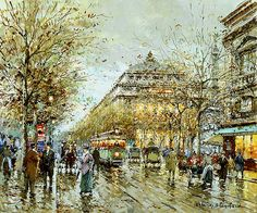 Paris Le Chatelet Painting by Antoine Blanchard | Oil Painting