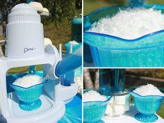 frozen pool party | Frozen Party Ideas Week – Snowball Bar!