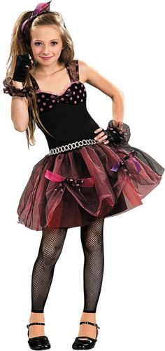 Girls Diva Child 80s Costume - Party City