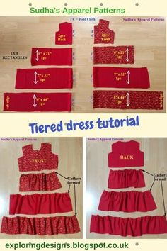 The Tiered Dress Tutorial. I have this dress for a Tiered Dress Tutorial. Ich habe benutzt The Tiered Dress Tutorial. I made this dress for a 3 year old. I have used … – # 3 years - Sewing Baby Clothes, Sewing Shirts, Diy Clothes, Dress Clothes, Barbie Clothes, Georgette Fabric, Fashion Sewing, Kids Fashion, Baby Sewing