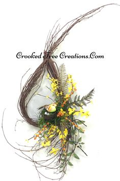 Small Teardrop Wreath With Bird And Nest