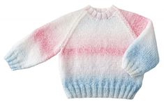 This cute and cozy baby sweater and hat ensemble includes Mary Maxim Sugar Baby Stripes yarn. Sweater Hat, Sugar Baby, Knit Or Crochet, Baby Sweaters, Mary, Stripes, Tumblr, Pullover, Knitting