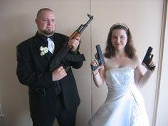 Odd Engagement and Wedding Photos