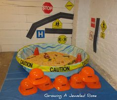 construction site small world and sensory play