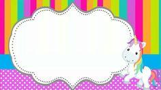 tarjeta para ragalo Unicorn Invitations, Birthday Invitations, Unicorn Birthday Parties, Unicorn Party, School Labels, Pokemon Coloring, Birthday Frames, Hello Kitty Wallpaper, Christmas Frames
