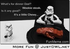 #StarWars #Funny  -  Wookie Steak