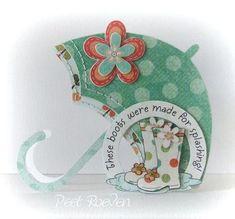 umbrella shaped card
