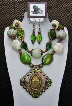 Sagebrush Diva Necklace Set Available at BuckarooBay.com Cowgirl Jewelry & Western Accessories