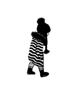 Kunst Poster für Kinder mit einer Illustration in schwarzweiß. Hochwertiger Kunstdruck auf Papier (250 g/m) im A3 Format | Ulrike Wathling
