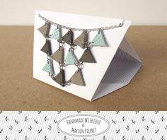 Collier Pythagore en Cuir Menthe & Taupe par HandmadeWithLoveByMP €28,00 EUR