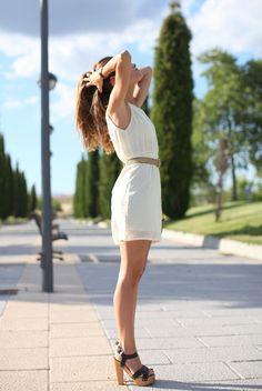 Loves this white dress!