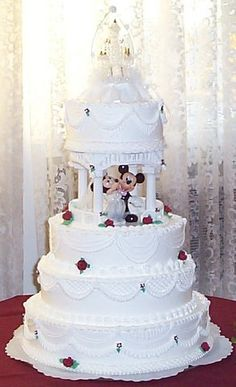 Disney Princess Themed Wedding Cakes - Bing Images Mickey and Minnie... Cant go wrong.