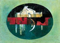 Tükörkép - Város oválisban Reflection - Town in oval par Lili Ország Oeuvre D'art, Les Oeuvres, Reflection, Hungary, Artist