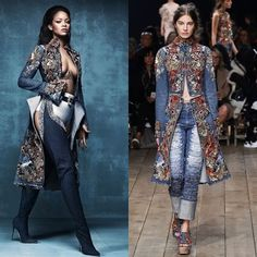 Rihanna in coat from @worldmcqueen's 2016 Spring Ready-to-Wear collection.