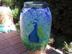 Gorgeous Rain barrels - brilliant!  spaces - san diego - rain barrel artist