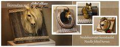 Ikiroutaa.net - hevosia ja hevostauluja - needle felted horses http://ikiroutaa.blogspot.fi/