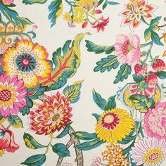 Graceful Garden Floral Cotton Print