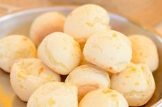 A very yummy recipe for Brazilian cheese bread or Pao De Queijo. This Gluten free snack is delicious. Brazilian Cheese Bread Recipe from Grandmothers Kitchen. Read Recipe by Gluten Free Snacks, Gluten Free Recipes, Bread Recipes, Snack Recipes, Cooking Recipes, Brazilian Cheese Bread, Cheese Buns, Salty Foods, Pan Bread
