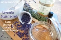 Lavender Sugar Scrub, an easy DIY recipe that smells divine! #sugarscrub