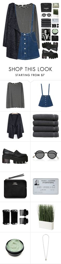 """""""YOU & I ARE TWO OCEANS APART"""" by emmas-fashion-diary ❤ liked on Polyvore featuring R13, WithChic, Linum Home Textiles, Chanel, Jeffrey Campbell, Acne Studios, T3, Topshop and np"""