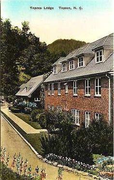Tapoco North Carolina NC 1930s Tapoco Lodge Antique Vintage Albertype Postcard
