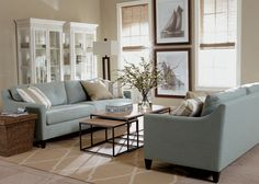 Beach Chic Living Room | Ethan Allen Monterey Two-Cushion Sofa