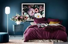 ROMANTIC BEDROOM IDEAS – Romantic bedroom suits for all gender and ages. This is because a romantic bedroom mostly looks gentle and beautiful. Teal Bedroom, Dark Romantic Bedroom, Romantic Bedroom, Dramatic Bedroom, Red Bedding, Bedroom Design, Bedroom Decor, Romantic Interior, Interior Design