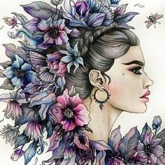 My first attempt to color skinThe floral princess New video is up on my channel . . . #Dagdrömmar #daydreams #hannakarlzon #summernights #coloringbook #coloring #coloriage #colouringforadults #prismacolor #coloredpencils #adultcoloring #shirleytutopia #colouring #colouringbook #coloringtutorial #塗り絵の本 #大人の塗リ絵 #著色本 #Målarbok #Malbuch