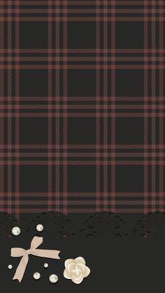 Tartan ish brown and black Bow Wallpaper, Phone Background Wallpaper, Flowery Wallpaper, Matching Wallpaper, Iphone 6 Wallpaper, Computer Wallpaper, Black Wallpaper, Mobile Wallpaper, Cute Backgrounds