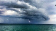 Storm over lake erie