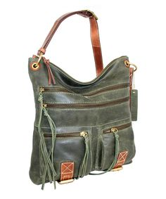 Look at this Pine Coronado Leather Crossbody Bag on #zulily today!