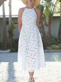 Straps Neck Sleeveless Backless Long Dress - Power Day Sale#newin #newarrivals #justdropped #newseason #fashionintrend Backless Long Dress, Cute Fall Outfits, Fall Collections, How To Wear, Maxi Outfits, Ivory Dresses, White Style, Autumn, Women