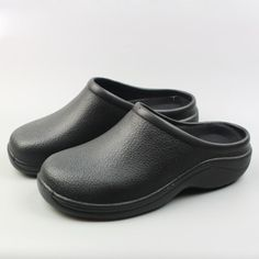 e72416eb08db Plus Size Women's Working Clogs Shoes EVA Black Garden Mule Clog Kitchen  Work Sandals Nurse/Chef Shoes Oil-proof Woman Ladies