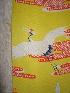 Kimonoseide,+Kraniche,+DIY,+Material,+antik,+von+nokimo+-+Kimonos+u.+Kelims++Webart+aus+aller+Welt+auf+DaWanda.com