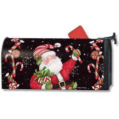 Candy Cane Santa Mailwrap