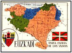 Spain Mapa-de-las-provincias-vascas Susana Anciola Aurecoechea 1926 Hija de Luis Anciola y Gabriela Aurrecoechea