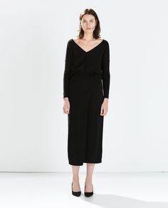 ZARA - WOMAN - LONG DRESS WITH SLIT SKIRT
