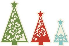 More Christmas trees from the Silhouette Online Store!