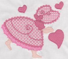 Sunbonnet Sue Valentine hearts
