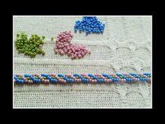 braid stitch bracelet beadwork tutorial - kum boncuklarla saç örgüsü modeli bileklik yapımı - YouTube