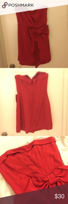 Forever 21 Semi Formal Dress Red semi formal dress. Worn twice. Looks beautiful still. Size 10. Forever 21 Dresses Strapless