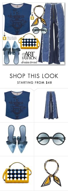 """Flare Up: Wide-Leg Jeans (Street Chic)"" by jecakns ❤ liked on Polyvore featuring Rejina Pyo, Mercedes Castillo, Tom Ford and Henri Bendel"